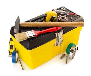 cassetta degli attrezzi per piccoli lavori domestici
